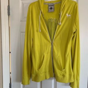 PINK Victoria's Secret yellow hoodie